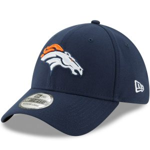 Men's Denver Broncos New Era Navy 39THIRTY Flex Team Classic Hat