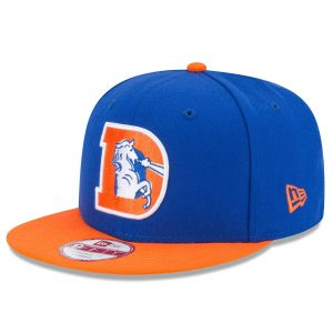 Men's Denver Broncos New Era Royal/Orange Historic Logo Baycik 9FIFTY Snapback Adjustable Hat