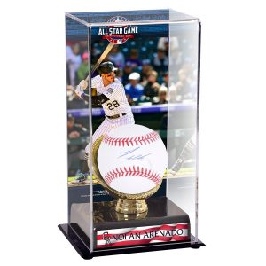 Nolan Arenado Colorado Rockies Fanatics Authentic Autographed Baseball and 2018 MLB All-Star Game Gold Glove Display Case with Image