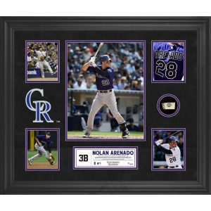 Nolan Arenado Colorado Rockies Fanatics Authentic Framed 5-Photo Collage with a Piece of Game-Used Baseball