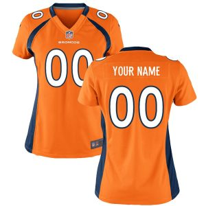 Women's Denver Broncos Nike Orange Custom Game Jersey