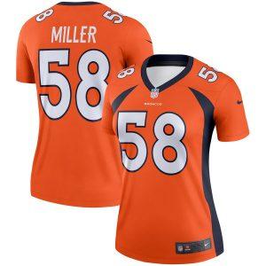 Women's Denver Broncos Von Miller Nike Orange Legend Jersey