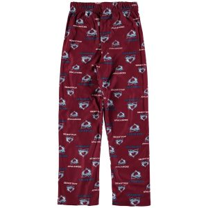 Youth Colorado Avalanche Burgundy Team Logo Printed Pajama Pants