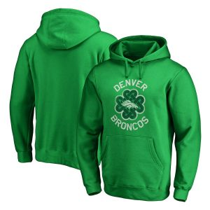 Men's Denver Broncos Green St. Patrick's Day Luck Tradition Pullover Hoodie