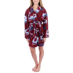 Colorado Avalanche Women's Burgundy Ramble Microfleece Robe