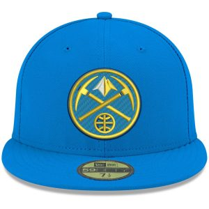 Men's Denver Nuggets New Era Blue Official Team Color 59FIFTY Fitted Hat