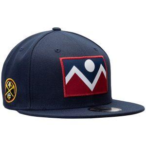 Men's Denver Nuggets New Era Navy Flag Front 9FIFTY Adjustable Hat