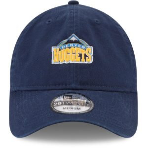 low priced 153e1 3d4ce Men s Denver Nuggets New Era Navy On-Court 29TWENTY Fitted Hat