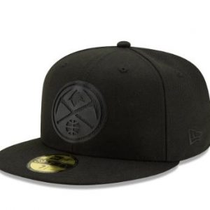 Men's Denver Nuggets New Era Black Back Half 59FIFTY Fitted Hat