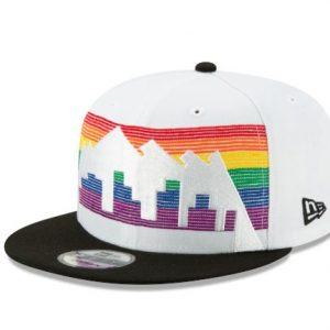 Men's Denver Nuggets New Era White/Black 2019/20 Earned Edition 9FIFTY Snapback Adjustable Hat