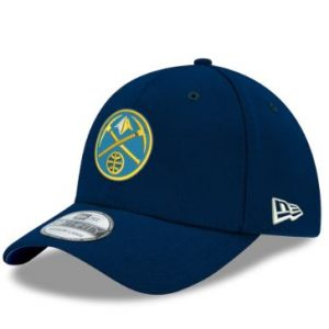 Men's Denver Nuggets New Era Navy Team Classic 39THIRTY Flex Hat
