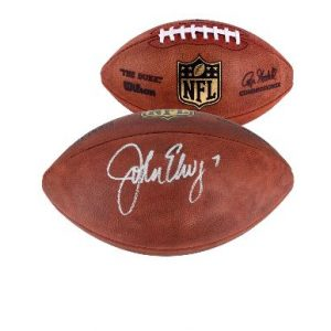 Autographed Denver Broncos John Elway Fanatics Authentic Wilson NFL Football