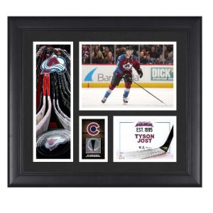 Colorado Avalanche Tyson Jost Fanatics Authentic Framed 15″ x 17″ Player Collage with a Piece of Game-Used Puck