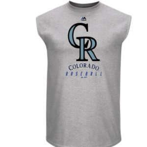 Colorado Rockies Majestic Game Fundamentals Muscle Tank Top – Heathered Steel