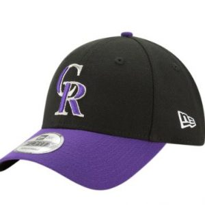 Colorado Rockies New Era Alternate The League 9FORTY Adjustable Hat – Black/Purple