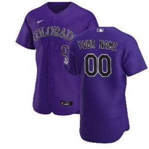 Colorado Rockies Nike 2020 Alternate Authentic Custom Jersey – Purple