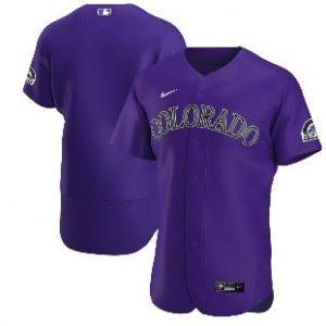 Colorado Rockies Nike Alternate 2020 Authentic Team Jersey – Purple