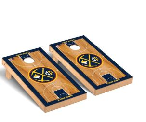 Denver Nuggets 2′ x 4′ Court Museum Cornhole Board Tailgate Toss Set