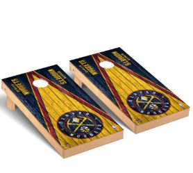 Denver Nuggets 2′ x 4′ Weathered Museum Cornhole Board Tailgate Toss Set