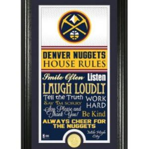 Denver Nuggets Highland Mint House Rules Bronze Coin Photo Mint