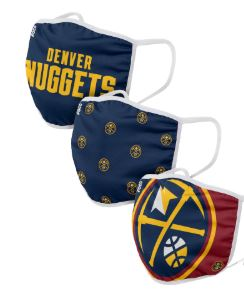 FOCO Denver Nuggets Face Covering 3-Pack