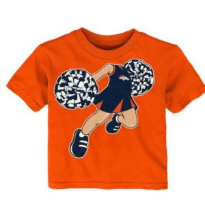 Girls Infant Denver Broncos Orange Pom Pom Cheer T-Shirt