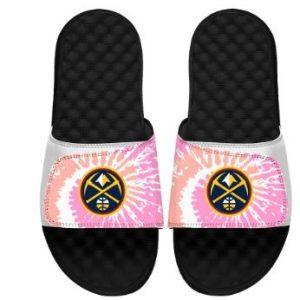 Girls Youth Denver Nuggets ISlide Pink Tie-Dye Slide Sandals