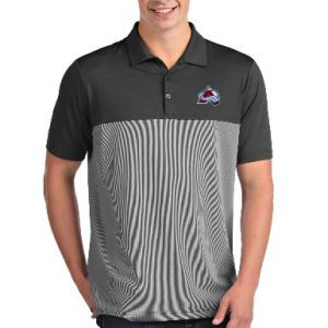 Men's Colorado Avalanche Antigua Gray/White Venture Polo
