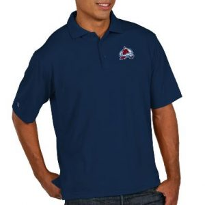 Men's Colorado Avalanche Antigua Navy Pique Xtra Lite Big & Tall Polo