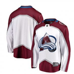 Men's Colorado Avalanche Fanatics Branded White Breakaway Away Jersey