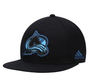 Men's Colorado Avalanche adidas Black Neon Brush Snapback Adjustable Hat