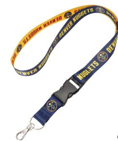 WinCraft Denver Nuggets Team Lanyard with Detachable Buckle