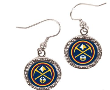 WinCraft Denver Nuggets Women's Round Dangle Earrings