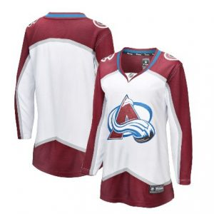 Women's Colorado Avalanche Fanatics Branded White Away Breakaway Blank Jersey