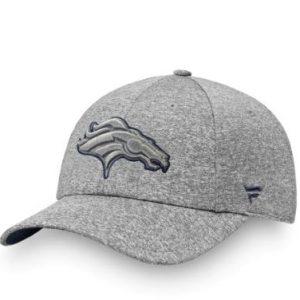Women's Denver Broncos NFL Pro Line by Fanatics Branded Heathered Gray Versalux Marled Tech Adjustable Hat
