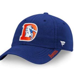 Women's Denver Broncos NFL Pro Line by Fanatics Branded Royal Vintage Fundamental Adjustable Hat