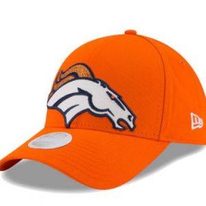 Women's Denver Broncos New Era Orange Glitter Glam 9FORTY Adjustable Hat