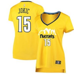 Women's Denver Nuggets Nikola Jokic Fanatics Branded Gold Fast Break Replica Jersey – Statement Edition