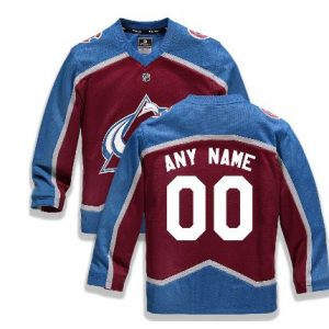 Youth Colorado Avalanche Fanatics Branded Maroon Home Replica Custom Jersey