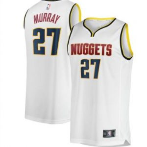 Youth Denver Nuggets Jamal Murray Fanatics Branded White Fast Break Player Jersey – Association Edition