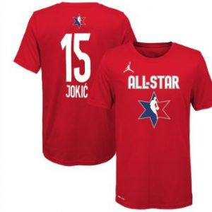 Youth Nikola Jokic Jordan Brand Red 2020 NBA All-Star Game Name & Number T-Shirt